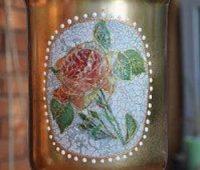 آموزش تزیین گلدان شیشه ای