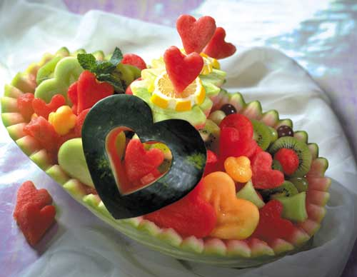 تزیین هندوانه شب یلدا , تزیین هندوانه برای عروس
