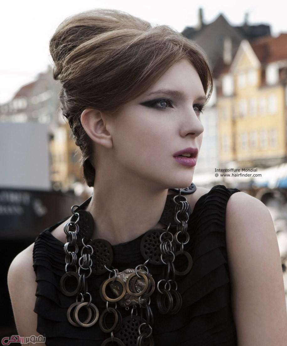مدل موی شینیون, شینیون ساده, شینیون جدید