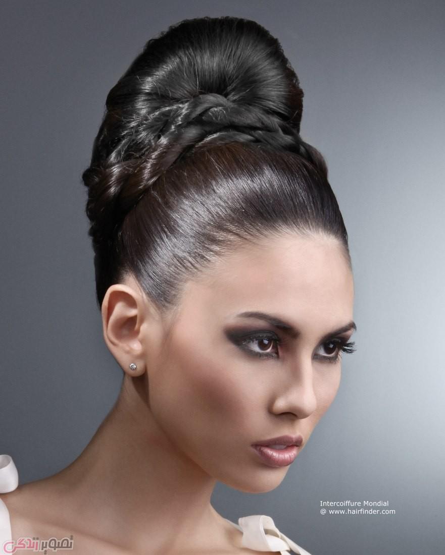 مدل موی شینیون, شینیون بسته , شینیون جدید