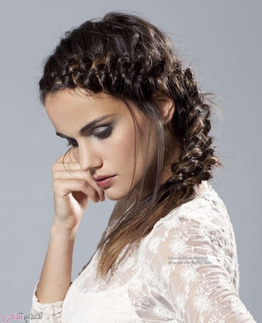 مدل موی شینیون, مدل بافت مو, شینیون ساده