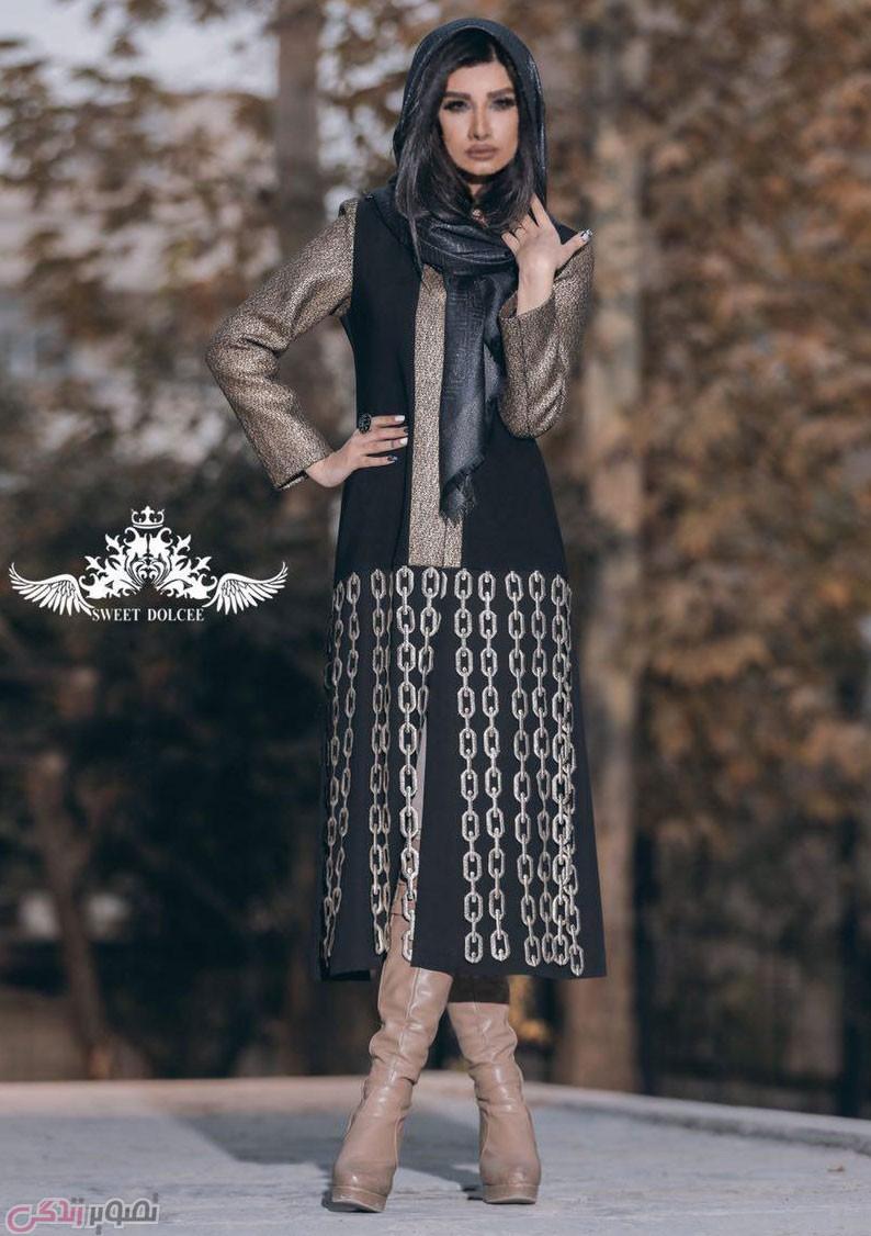 مدل مانتو مجلسی دخترانه پاییزی بلند