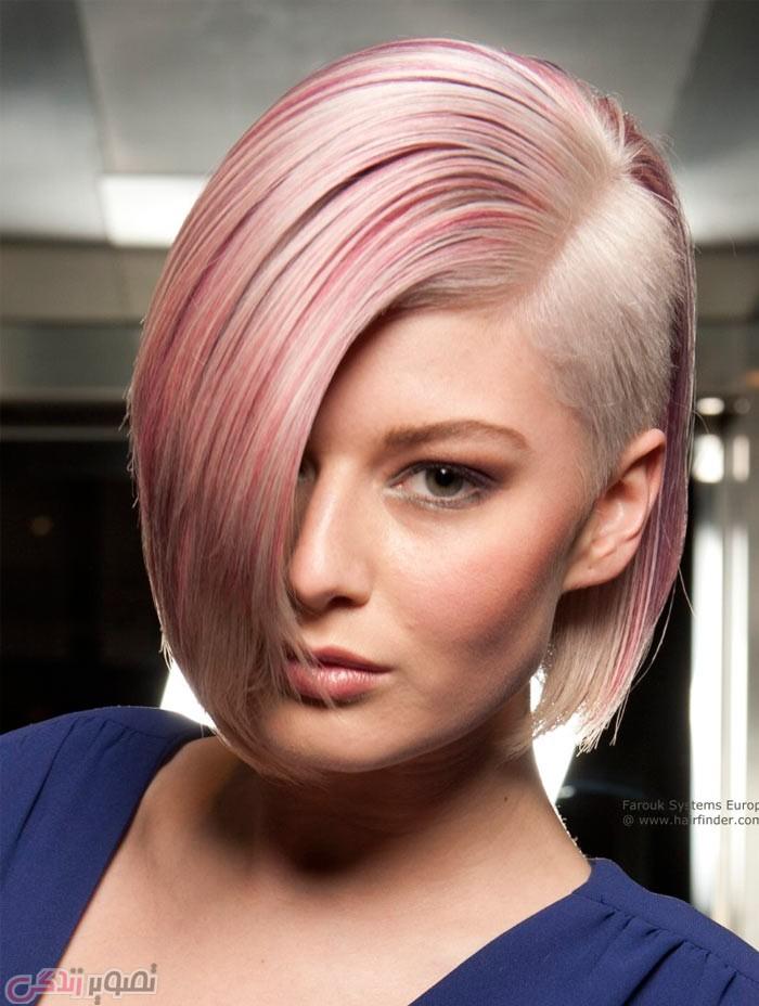 مدل موی کوتاه زنانه , هرکات , موی فشن,هایلایت