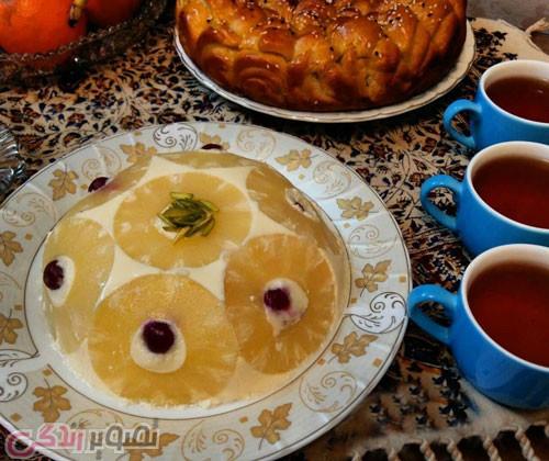 طرز تهیه دسر شارلوت آناناس