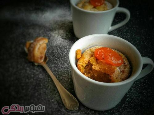 طرز تهیه کاپ کیک خرمالو