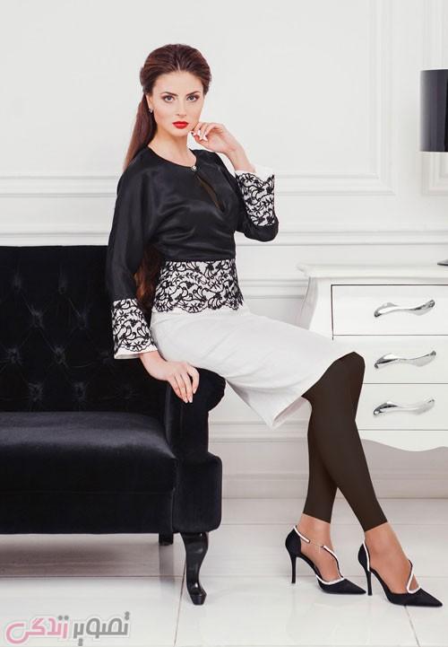 مدل لباس مجلسی شیک کت دامن