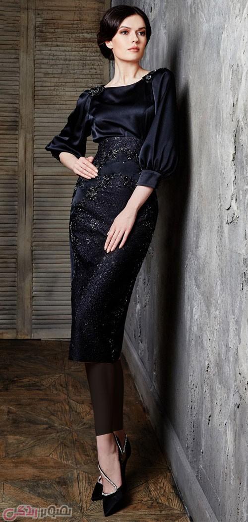 مدل لباس مجلسی شیک مشکی زنانه