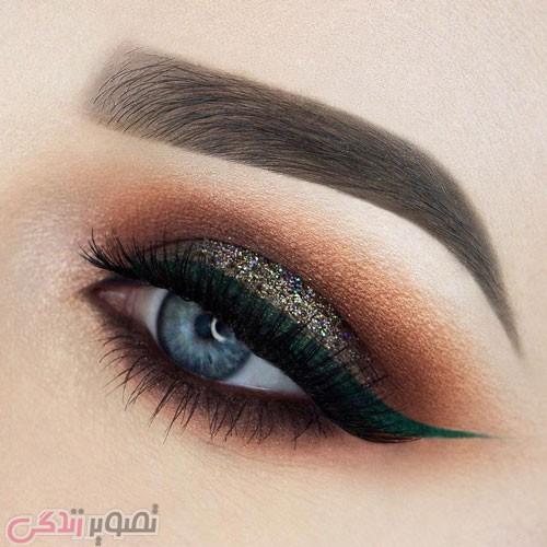 مدل آرایش چشم مجلسی