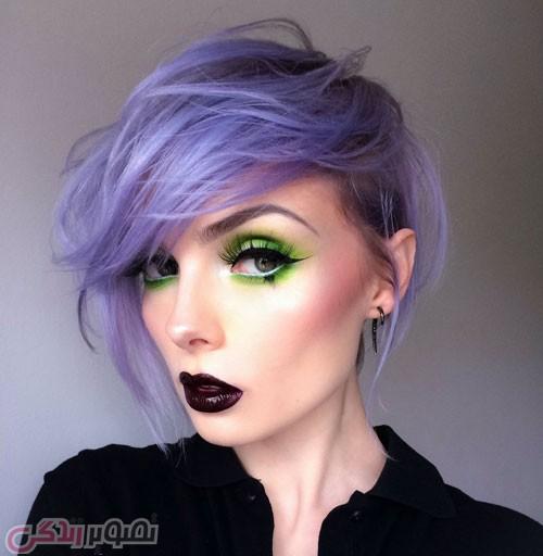 آرایش صورت دخترانه سایه سبز