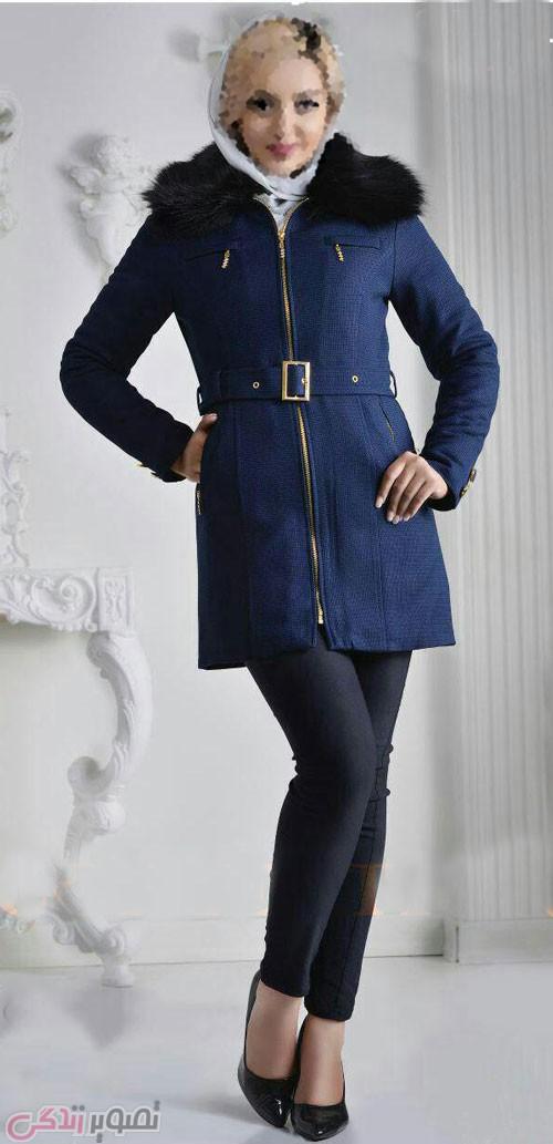 مدل جدید پالتو دخترانه , مدل پالتو کوتاه کلاه دار