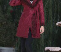 مدل جدید پالتو دخترانه , مدل پالتو آلبالویی دخترانه
