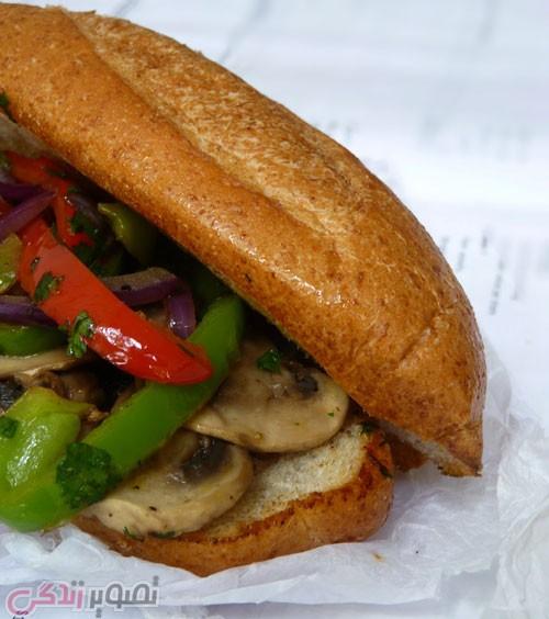 طرز تهیه ساندویچ قارچ