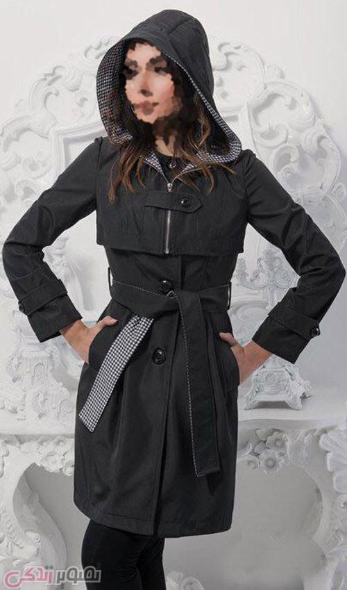 مدل پالتو مانتو زمستانی , مدل بارانی کلاهدار دخترانه