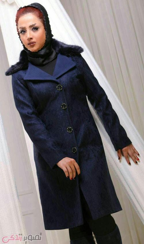 مدل پالتو دخترانه شیک یقه انگلیسی