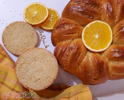 طرز تهیه نان پرتقالی