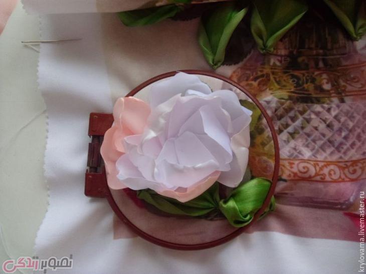 آموزش دوخت گل روبانی, ساخت تابلو گل صد تومانی