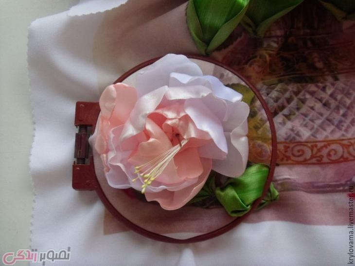 آموزش ساخت گل روبانی, ساخت تابلو گل صد تومانی