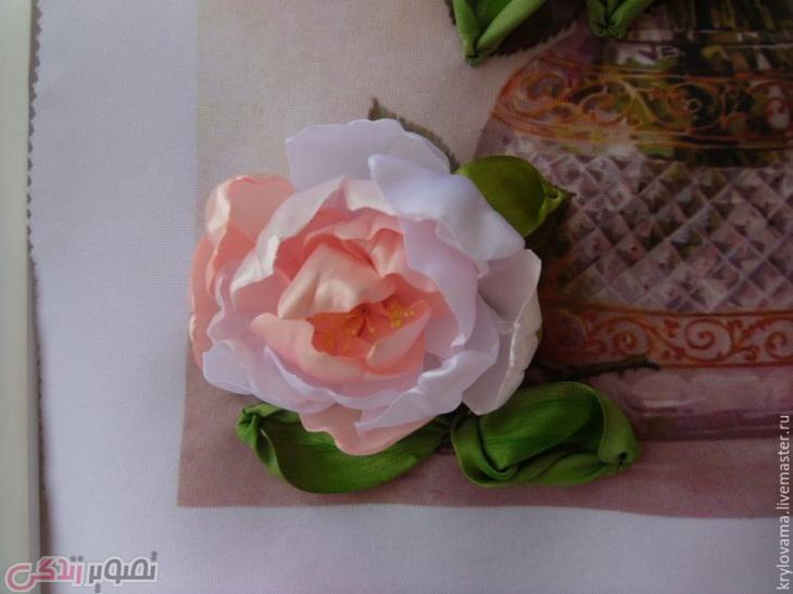 آموزش دوخت گل صد تومانی, ساخت تابلو گل روبانی