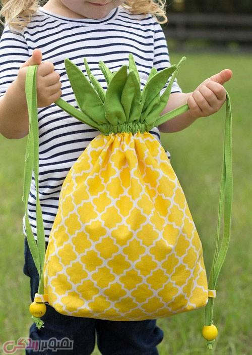 آموزش دوخت کوله پشتی آناناسی شکل