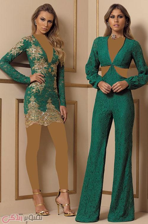 مدل لباس مجلسی کوتاه, لباس مجلسی با شلوار
