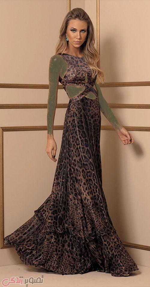 مدل لباس مجلسی بلند پلنگی