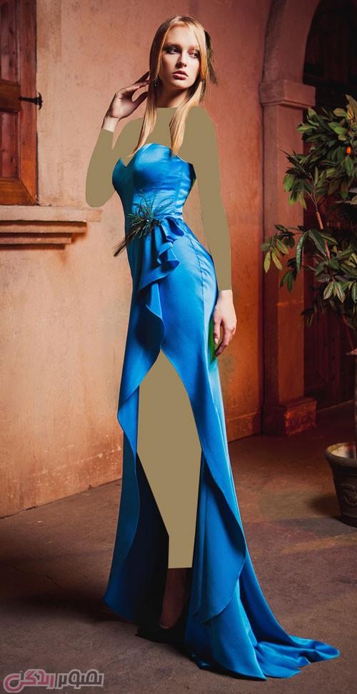 مدل لباس مجلسی دکلته , مدل پیراهن شب