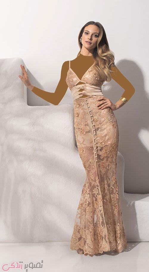 مدل لباس مجلسی بلند دو بندی