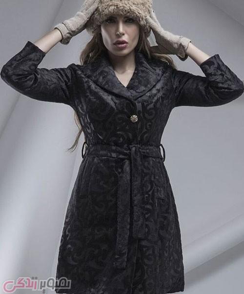 مدل پالتو جدید دخترانه مشکی