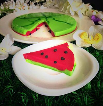 دسر ماست به شکل هندوانه ، یک ژله شیک و آسان برای شب یلدا