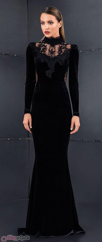 لباس مجلسی مخمل مشکی
