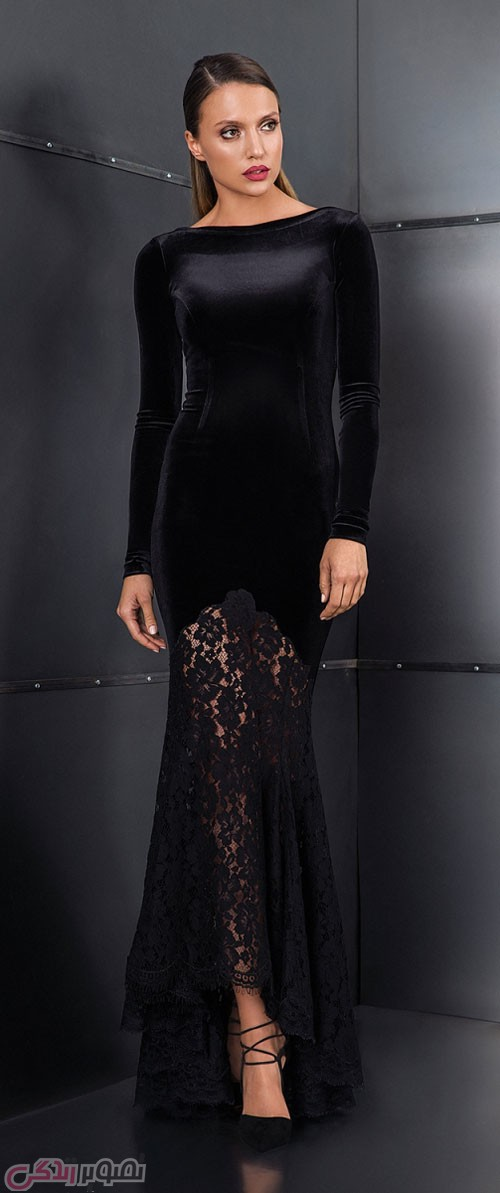 مدل لباس شب مخمل