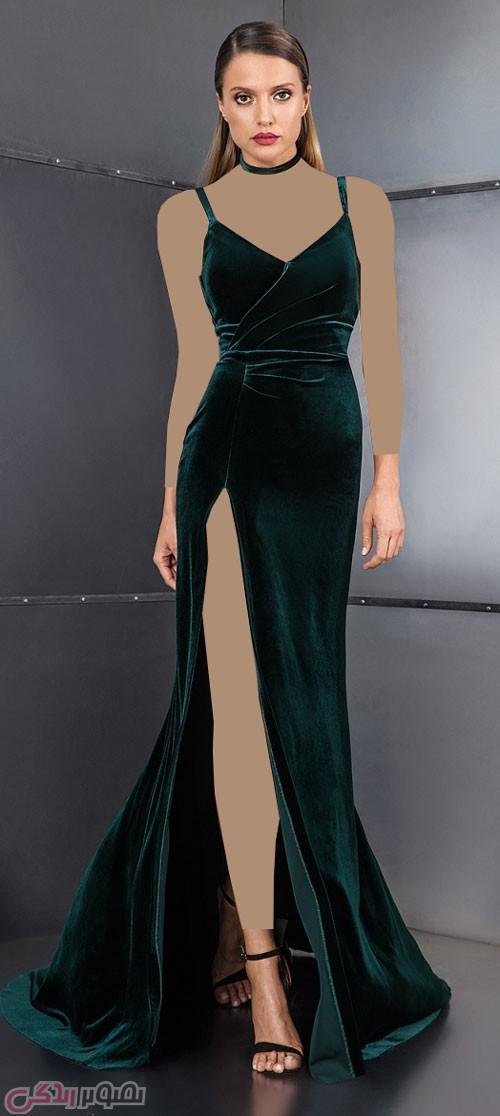 مدل روپوش چاک دار مدل لباس مجلسی مخمل cristallini • مدل لباس شب جدید امسال ...