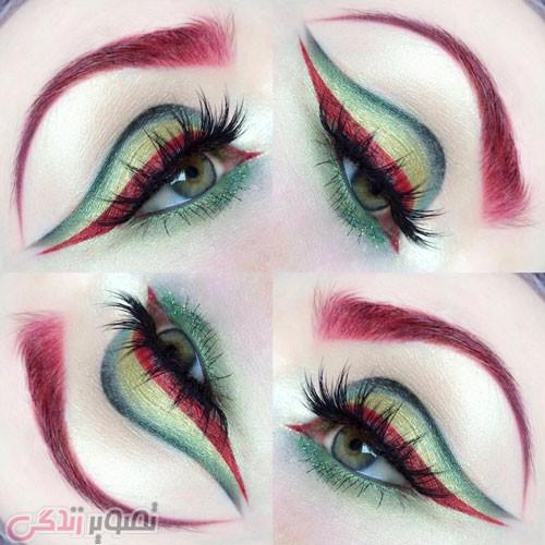 مدل آرایش چشم عربی جدید