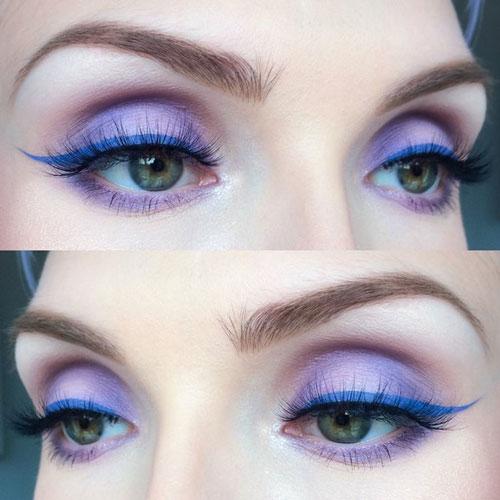 جدیدترین مدل آرایش چشم ملایم دخترانه