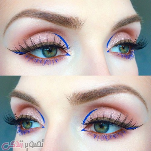 جدیدترین مدل آرایش چشم لایت دخترانه