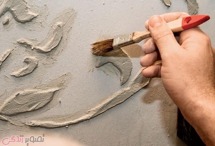 آموزش پتینه روی دیوار , پتینه کاری دیوار , هنر پتینه دیوار