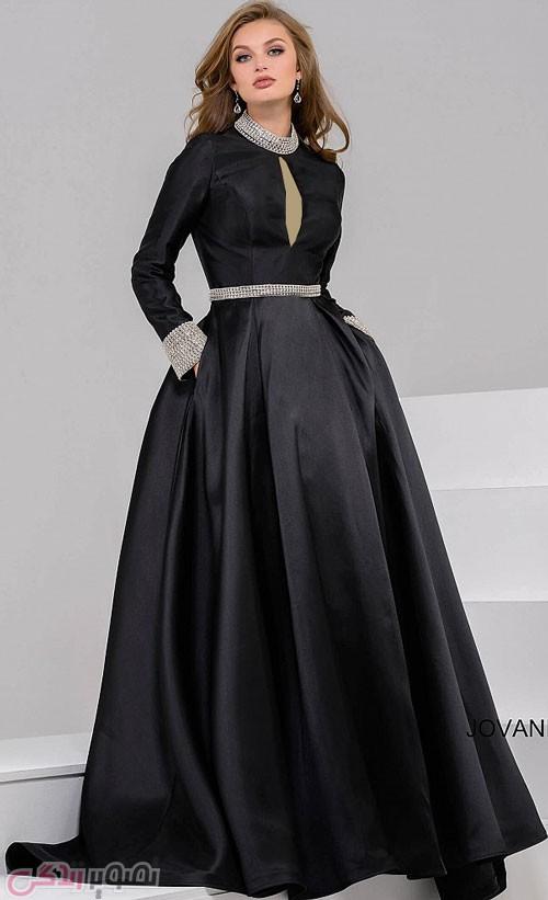 مدل لباس مجلسی پوشیده مشکی