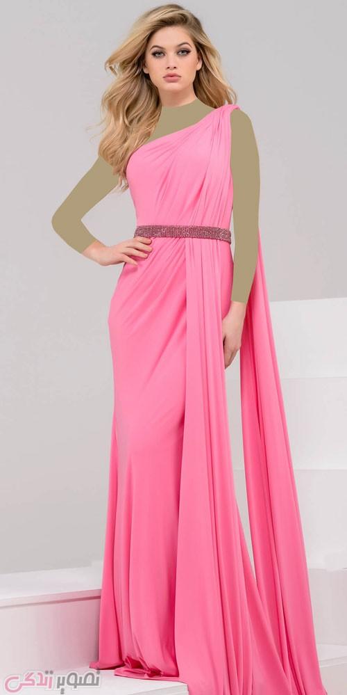 آموزش گیپور دوزی مدل لباس مجلسی بلند زنانه