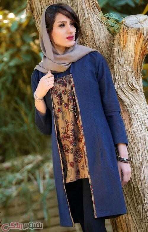مدل مانتو سنتی ایرانی جلو باز