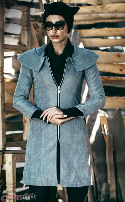 مدل مانتو زمستانی زیپ دار