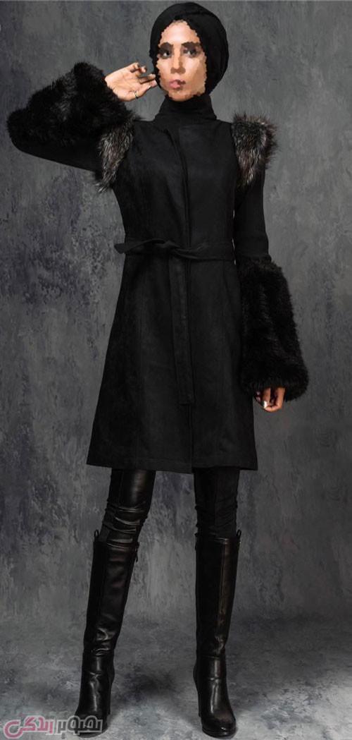 مانتو پالتو مشکی , مدل مانتو زمستانی زنانه