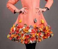 مدل جدید مانتو مجلسی رنگی گل برجسته