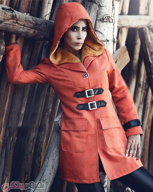 مدل مانتو زمستانی زنانه دخترانه کلاه دار