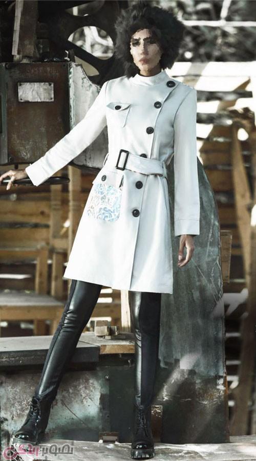 مدل مانتو زمستانی زنانه دخترانه, پالتو سفید