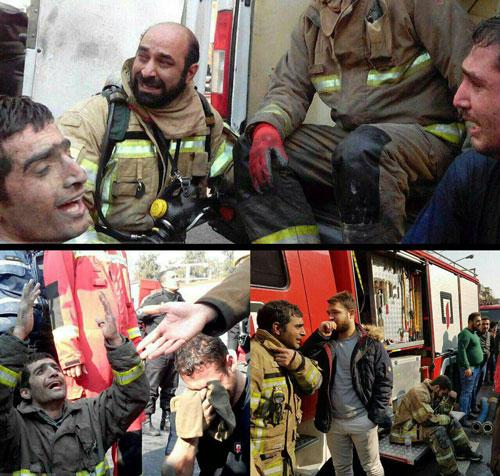 نگرانی ماموران امدادی از حبس همکاران خود در زیر آوار ساختمان پلاسکو
