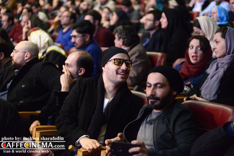 عکس جواد عزتی در افتتاحیه سی و پنجمین جشنواره فیلم فجر