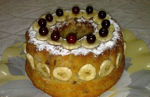 نان، شیرینی، دسر  , طرز تهیه کیک موز و گردو کیکی مقوی مناسب صبحانه ، عصرانه و ماه رمضان