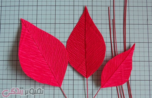 آموزش درست کردن گل کاغذی با کاغذ کشی