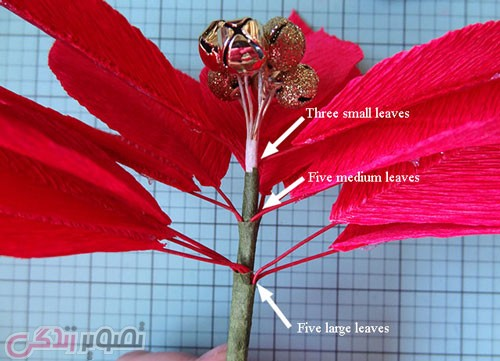 آموزش ساخت گل کاغذی با کاغذ کشی