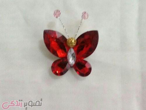 آموزش ساخت مگنت پروانه کریستالی